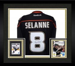 Framed SELANNE, TEEMU AUTO (DUCKS/BLACK/REEBOK/ALT) JERSEY - Mounted Memories