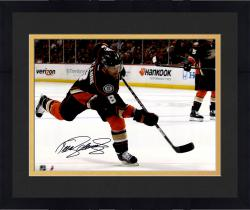 "Framed Teemu Selanne Anaheim Ducks Autographed 16"" x 20"" Shooting Black Photograph"