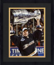 "Framed Teemu Selanne Anaheim Ducks Autographed 8"" x 10"" with Cup Photograph"
