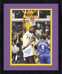 """Framed Shaquille O'Neal Los Angeles Lakers Autographed 16"""" x 20"""" Dunk Photograph"""