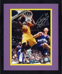 """Framed Shaquille O'Neal Los Angeles Lakers Autographed 8"""" x 10"""" Dunk Photograph"""