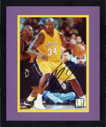 "Framed Shaquille O'Neal Los Angeles Lakers Autographed 8"" x 10"" vs Denver Nuggets Photograph"