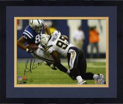 Framed Shaun Phillips San Diego Chargers Autographed 8'' x 10'' vs Indianapolis Colts Photograph