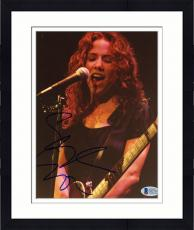 "Framed Sheryl Crow Autographed 8""x 10"" Playing Guitar Eyes Closed Photograph - Beckett COA"