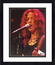 "Framed Sheryl Crow Autographed 8""x 10"" Playing Guitar Photograph - Beckett COA"