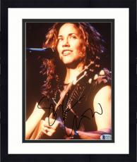 "Framed Sheryl Crow Autographed 8""x 10"" Playing Guitar Smiling Photograph - Beckett COA"