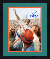Framed Don Shula Miami Dolphins Autographed 8'' x 10'' Hand Up Horizontal Photograph with 72 17-0 inscription