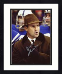 Framed Don Shula Miami Dolphins Autographed 8'' x 10'' Wearing Brown Hat Photograph