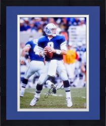 Framed Troy Aikman Dallas Cowboys Autographed 16'' x 20'' Look To Pass Photograph