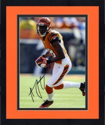 "Framed A.J. Green Cincinnati Bengals Autographed 8"" x 10"" Ball in Both Hands Photograph"