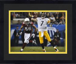 Framed Signed Ben Roethlisberger Picture - Super Bowl XLIII 16x20 Mounted Memories