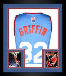 Framed Blake Griffin Los Angeles Clippers Autographed adidas Swingman Baby Blue Jersey