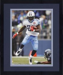Framed Signed Chris Johnson Photograph - 16x20 Mounted Memories