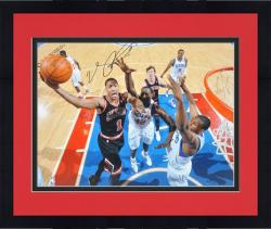 "Framed Derrick Rose Chicago Bulls Autographed 16"" x 20"" vs. Philadelphia 76ers Photograph"