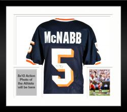 Framed Donovan McNabb Syracuse Orange Autographed Blue Jersey -