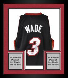 Framed Dwyane Wade Miami Heat Autographed adidas Swingman Jersey