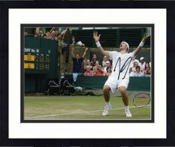 """Framed John Isner Autographed 8"""" x 10"""" Marathn Match Celebration Photograph"""
