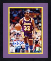 """Framed Magic Johnson Los Angeles Lakers Autographed 8"""" x 10"""" Dribbling Photograph"""