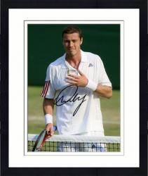 Framed Marat Safin Autographed 8'' x 10'' White Shirt Adidas Logo Photograph