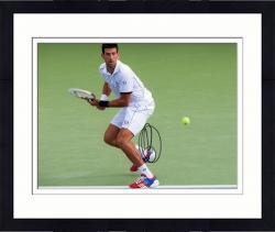 Framed Novak Djokovic Autographed 8'' x 10'' 2011 US Open Photograph
