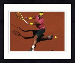 "Framed Rafael Nadal Autographed 8"" x 10"" French Open Pink Shirt Photograph"