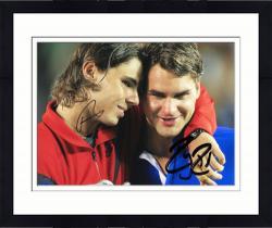 "Framed Roger Federer & Rafael Nadal Dual Autographed 8"" x 10"" Hugs Tears Photograph"