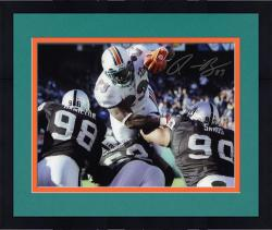 Framed Signed Ronnie Brown Photograph - Miami Dolphins 8x10 Mounted Memories