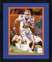 "Framed Tim Tebow Florida Gators Autographed 8"" x 10"" Running Photograph"