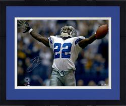 Framed Emmitt Smith Florida Gators Autographed 16'' x 20'' Hands Up Photograph