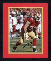 Framed Justin Smith San Francisco 49ers Autographed 8'' x 10'' Photograph