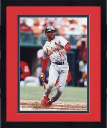 Framed Ozzie Smith St. Louis Cardinals Autographed 8'' x 10'' Dropping Bat Photograph
