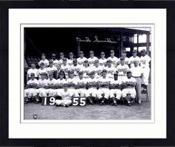 Framed Duke Snider Brooklyn Dodgers Autographed 11'' x 14'' 1955 Whole Team Photograph