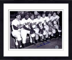 Framed Duke Snider Brooklyn Dodgers Autographed 11'' x 14'' 7 Players Photograph