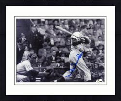 Framed SNIDER, DUKE AUTO (DODGERS/B/W/SWINGING) 8X10 PHOTO - Mounted Memories
