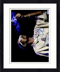 """Framed Snoop Dogg Autographed 11"""" x 14"""" Smoking On Stage Photograph - PSA/DNA COA"""