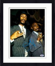 "Framed Snoop Dogg Autographed 11"" x 14"" with Tupac Photograph - PSA/DNA"