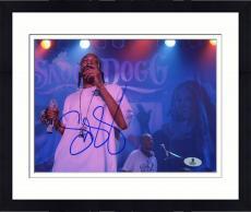 """Framed Snoop Dogg Autographed 8"""" x 10"""" Smoking Photograph - Beckett COA"""