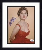 "Framed Sophia Loren Autographed 8""x 10"" Wearing Red Dress Photograph - PSA/DNA COA"