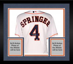 Framed George Springer Houston Astros Autographed Majestic Authentic Home Jersey