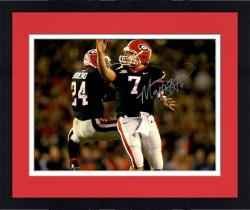 Framed Matt Stafford Georgia Bulldogs Autographed 16'' x 20'' Bump With Teammate Photograph