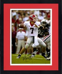 Framed Matt Stafford Georgia Bulldogs Autographed 16'' x 20'' White Jersey Throw Photograph