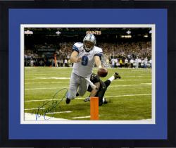 Framed Matt Stafford Detroit Lions Autographed 16'' x 20'' Touchdown Dive Photograph
