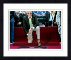 Framed Stan Lee Autographed 11'' x 14'' On One Knee Photograph