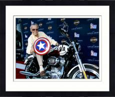 Framed Stan Lee Autographed 11'' x 14'' Shield Photograph