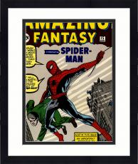 "Framed Stan Lee Autographed 16"" x 20"" Amazing Fantasy #15 Photograph with Silver Ink - BAS COA"