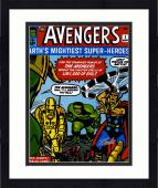 "Framed Stan Lee Autographed 16"" x 20"" Avengers #1 Photograph with Silver Ink - BAS COA"