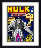 "Framed Stan Lee Autographed 16"" x 20"" Incredible Hulk #1 Photograph with Black Ink - BAS COA"