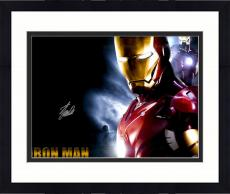 """Framed Stan Lee Autographed 16"""" x 20"""" Iron Man Horizontal Photograph with Silver Ink - BAS COA"""