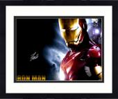 "Framed Stan Lee Autographed 16"" x 20"" Iron Man Horizontal Photograph with Silver Ink - BAS COA"