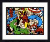 "Framed Stan Lee Autographed 16"" x 20"" Marvel Art Photograph with Black Ink - BAS COA"